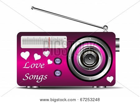Love songs on the radio