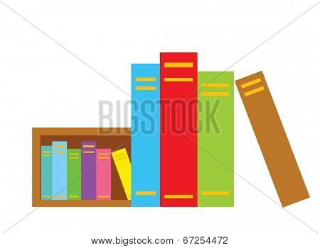 The view of book in the bookcase