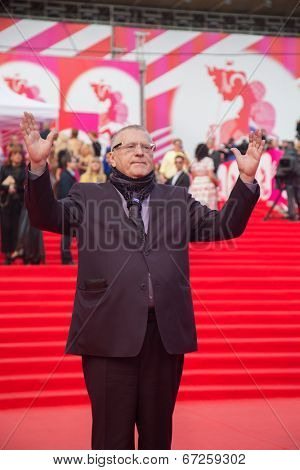 MOSCOW - JUNE, 19: Russian deputy V.Zhirinovsky. 36st Moscow International Film Festival. Opening Ceremony at Pushkinsky Cinema. June 19, 2014 in Moscow, Russia