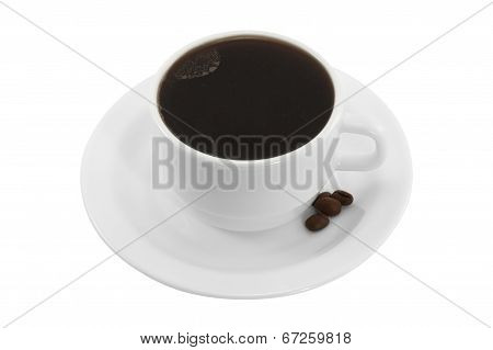 Coffee Cup And Saucer Isolated