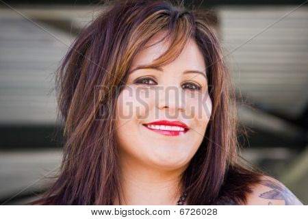 Woman model smiling