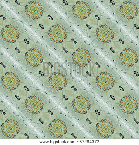 Beautiful Seamless Background Pattern Made Of Jewelled Nawab Butterfly Wings