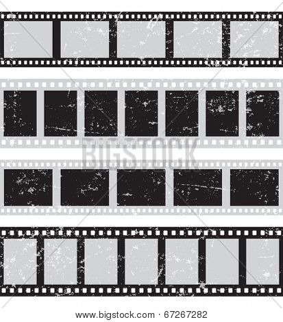 Film reel - horizontal retro seamless