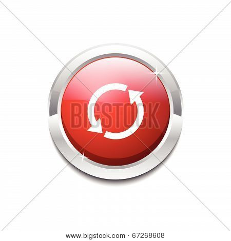 Reset Sync Circular Vector Red Web Icon Button