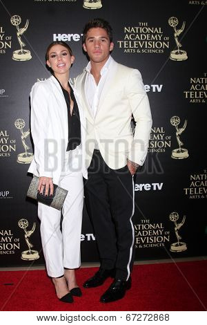 LOS ANGELES - JUN 22:  Kate Mansi, Casey Moss at the 2014 Daytime Emmy Awards Arrivals at the Beverly Hilton Hotel on June 22, 2014 in Beverly Hills, CA
