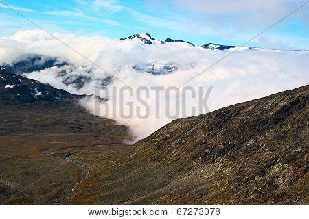 Peak of Galdhopiggen in Norway