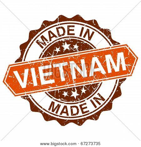 Made In Vietnam Vintage Stamp Isolated On White Background