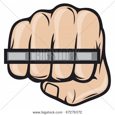 Brass knuckle fist