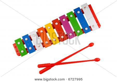 Glockenspiel On A White Background