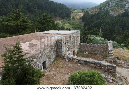Kos island in Greece. Old Pyli village