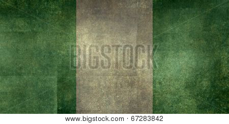 National flag of Nigeria, Textured version (to scale)