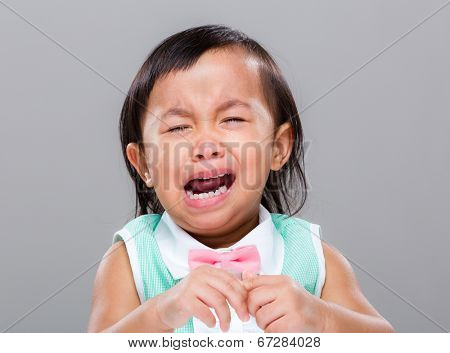 Mixed race baby cry
