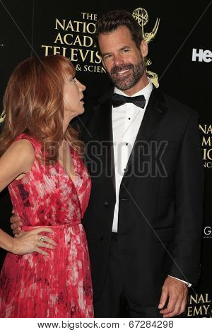 BEVERLY HILLS - JUN 22: Kathy Griffin, Tuc Watkins at The 41st Annual Daytime Emmy Awards Press Room at The Beverly Hilton Hotel on June 22, 2014 in Beverly Hills, California