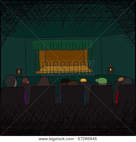 Audience At Theater