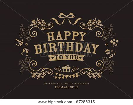 Birthday Card Design Template