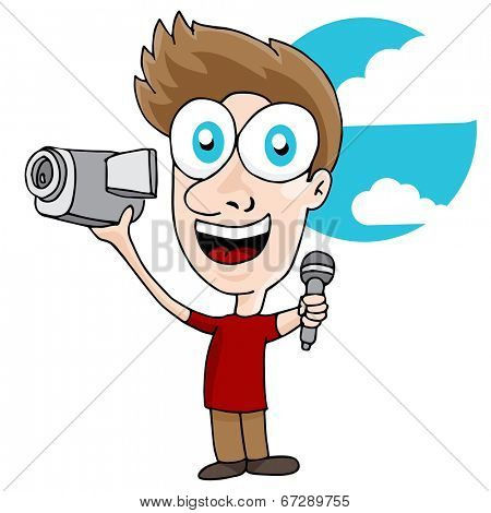 An image of a videographer man.