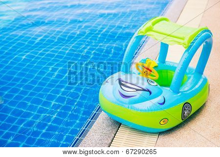 Fancy Car Toy For Kids Around Swimming Pool