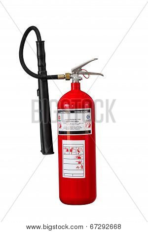 Dry Chemical Fire Extinguisher On White Background