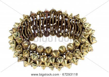 Image Of Beautiful Female Copper Bracelet With Studs