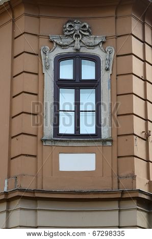 window decor of the facade of the building in cultural traditions