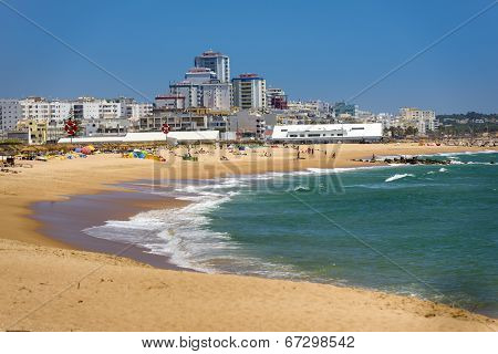 Vilamoura Beach On South Of Portugal
