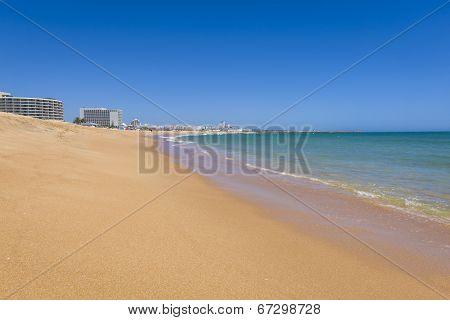 Clean Beach In Vilamoura Resort, Portugal