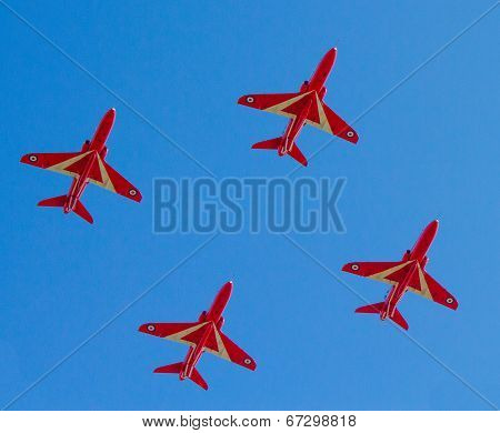 The Red Arrows jet planes British RAF aerobatic display team