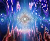image of all seeing eye  - Eye in rippled space - JPG