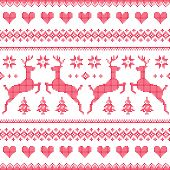 stock photo of scandinavian  - Nordic folk art vector background  - JPG