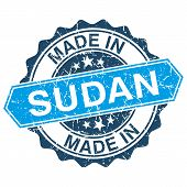 picture of sudan  - made in Sudan vintage stamp isolated on white background - JPG