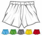 pic of boxer briefs  - boxer shorts collection vector illustration on white background - JPG