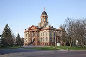 pic of cottonwood  - The Cottonwood County Courthouse in Windom Minnesota on a sunny morning - JPG