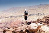 picture of petra jordan  - Beautiful red rock formations in Petra Jordan - JPG