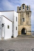 stock photo of faro  - Church of Se located on the historical area of Faro Portugal - JPG