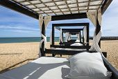 image of vilamoura  - Massage table on beach in Vilamoura South of Portugal