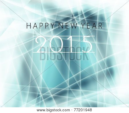 Happy New Year Message  Blue 2015