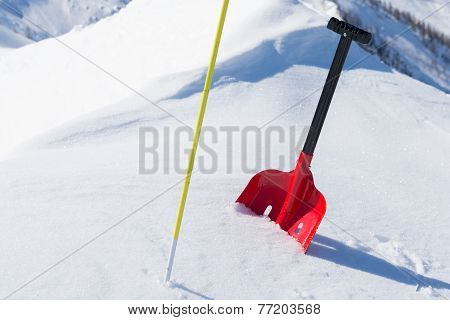 Avalanche Safety Gear In Snow
