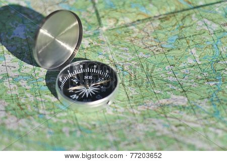 Compass, Map, Outdoor.