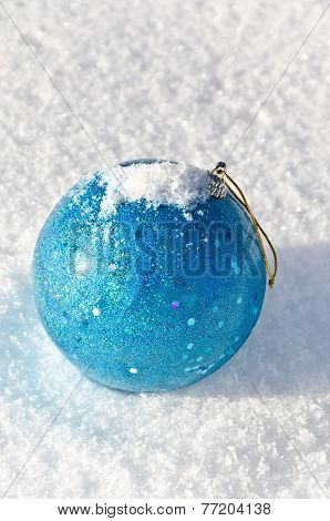 Christmas-tree Decoration On Snow