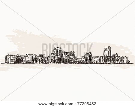 Cityscape sketch Vector illustration