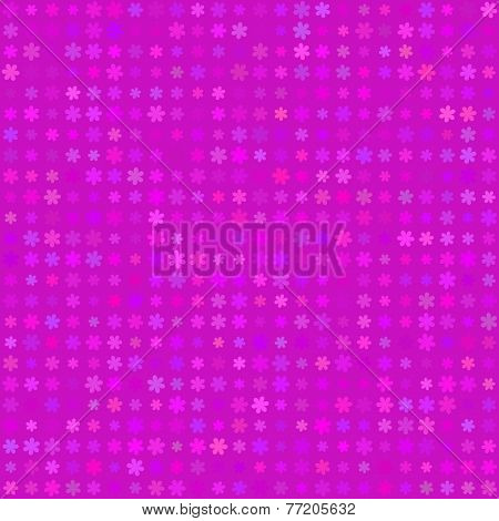 Abstract vector background Polka dot flowers seamless texture Magenta