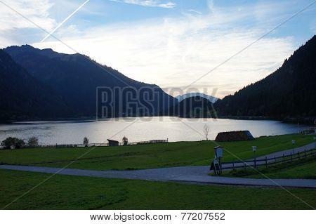 Landscape in Tannheim Valley in Tyrol, Austria
