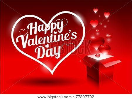 Modern red valentine's day gift background