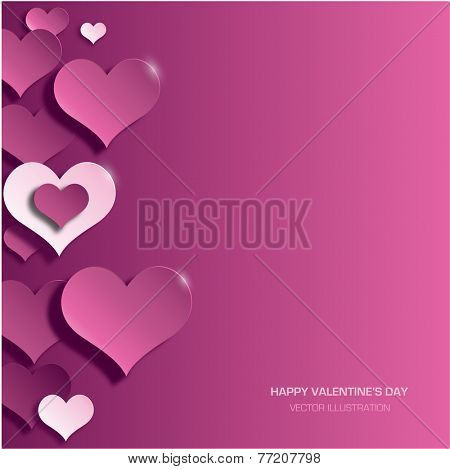 Modern red valentine's day background