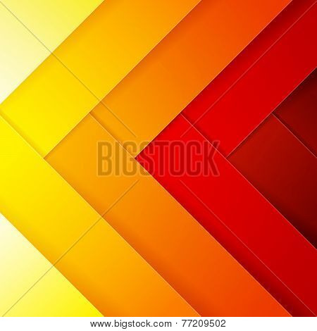 Abstract red, orange and yellow crossing rectangle shapes background