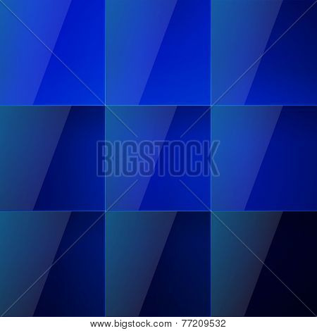 Blue aqua shiny squares abstract background