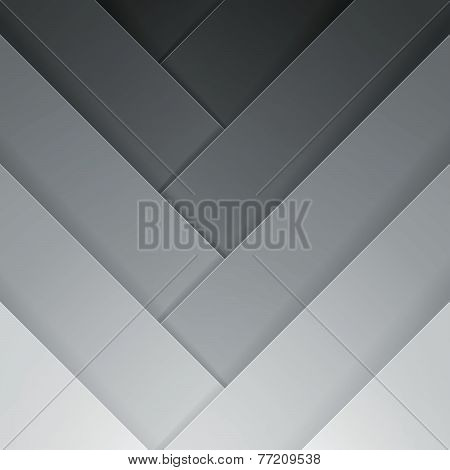 Abstract grey crossing rectangle shapes background