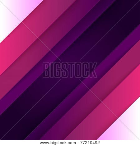 Abstract purple and violet paper triangle shapes background