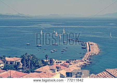 panoramic view on Koroni village, Greece