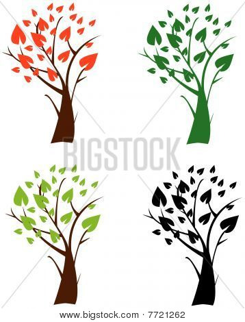 Abstract Trees Icons